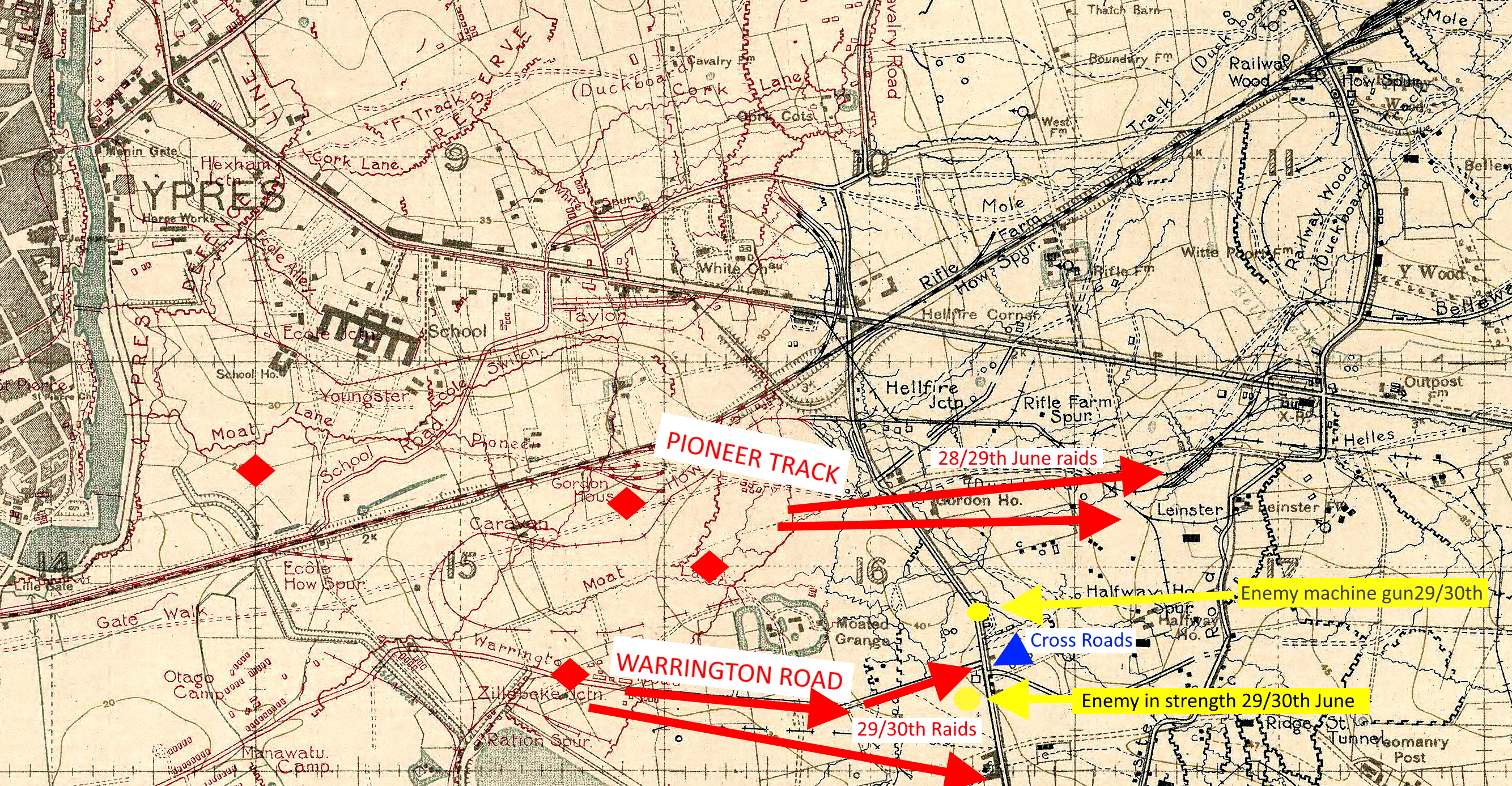 Raids of the 28th-30th June 1918